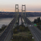 Aerial View Tacoma Narrows Bridges over Puget Sound Mount Rainier - PhotoDune Item for Sale