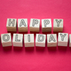 Happy Holidays word on wooden cubes - PhotoDune Item for Sale