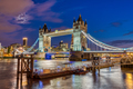 The illuminated Tower Bridge in London, UK - PhotoDune Item for Sale