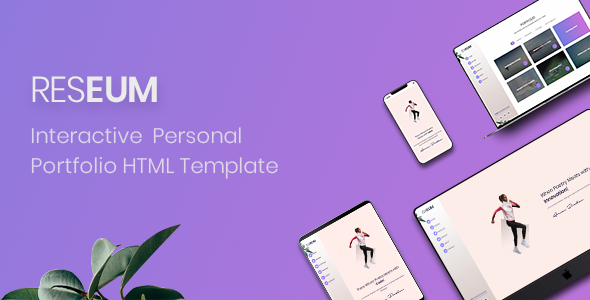 Reseum - Interactive Personal Portfolio Template