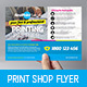 Print Shop Flyer Template - GraphicRiver Item for Sale