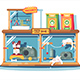 Hotel for Pets Filled with Dogs and Cats - GraphicRiver Item for Sale