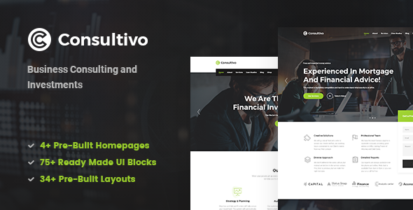 Consultivo - Business Consulting and Investments Drupal 8 Theme