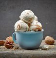 walnut and maple syrup ice cream - PhotoDune Item for Sale