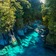 Famous attraction - Blue Pools, Haast Pass,  New Zealand, South - PhotoDune Item for Sale