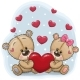 Teddy Bears with Heart - GraphicRiver Item for Sale