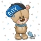 Cartoon Teddy Bear in Cap on a White - GraphicRiver Item for Sale