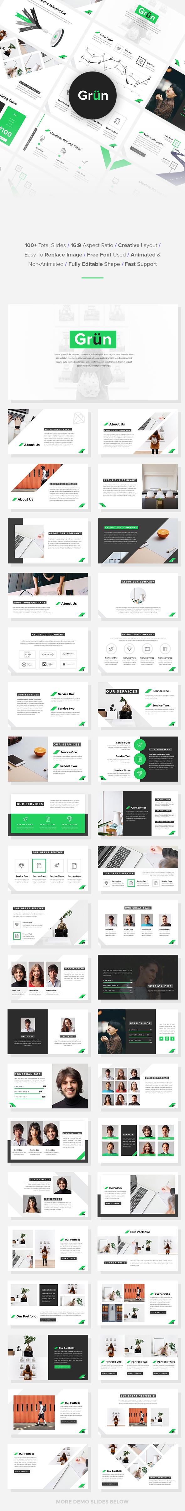 Grun - Business PowerPoint Template - Business PowerPoint Templates