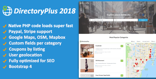 DirectoryPlus - Business Directory Script - CodeCanyon Item for Sale