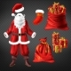 Santa Suit and Christmas Attributes Vector Set - GraphicRiver Item for Sale