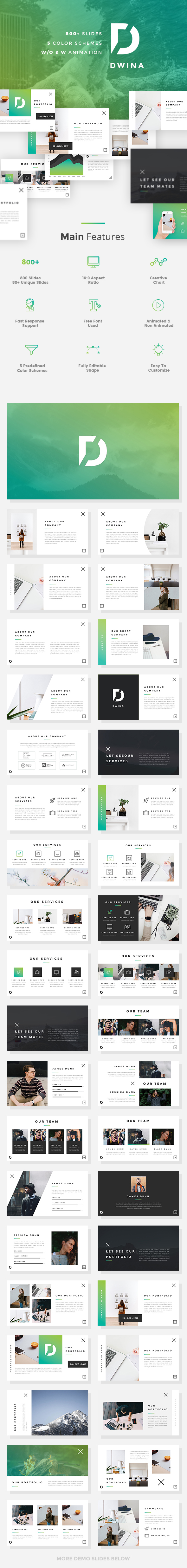 Dwina - Pitch Deck PowerPoint Template - Pitch Deck PowerPoint Templates