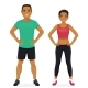 Sport Man and Woman - GraphicRiver Item for Sale