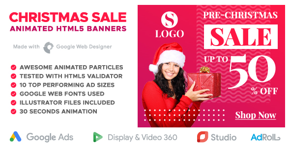 Christmas Sale - Shopping Animated HTML5 Banner Templates (GWD) - CodeCanyon Item for Sale