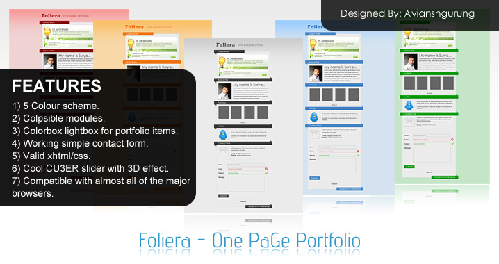 Free Download Foliera - One Page Portfolio Nulled Latest Version