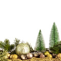 Christmas decoration glass balls with fir trees - PhotoDune Item for Sale
