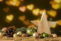 Christmas decoration wooden star with glass balls - PhotoDune Item for Sale
