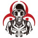 Gas Mask Soldier Logo - GraphicRiver Item for Sale