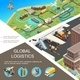 Isometric Global Logistics Poster - GraphicRiver Item for Sale