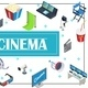 Isometric Movie Production Concept - GraphicRiver Item for Sale