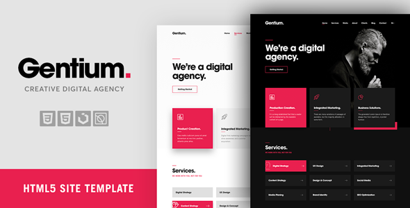 Gentium – A Creative Digital & Marketing Agency OnePage Template - Marketing Corporate