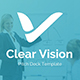 Clear Vision Pitch Deck Keynote Template - GraphicRiver Item for Sale