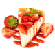 Piece of cheesecake with fresh strawberries and mint - PhotoDune Item for Sale
