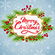 Christmas Background with Fir and Golden Frame. - GraphicRiver Item for Sale