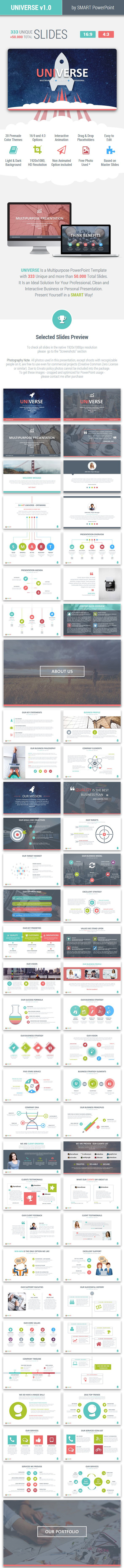 UNIVERSE - Multipurpose PowerPoint Template - Business PowerPoint Templates