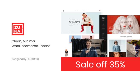 Zuka - Clean, Minimal WooCommerce Theme Free Download | Nulled