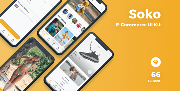 Soko - Ecommerce UI Kit - Sketch Templates