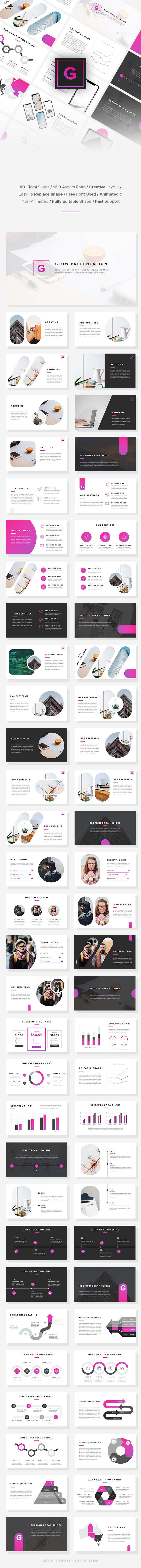 Glow - Business Google Slides Template - Google Slides Presentation Templates