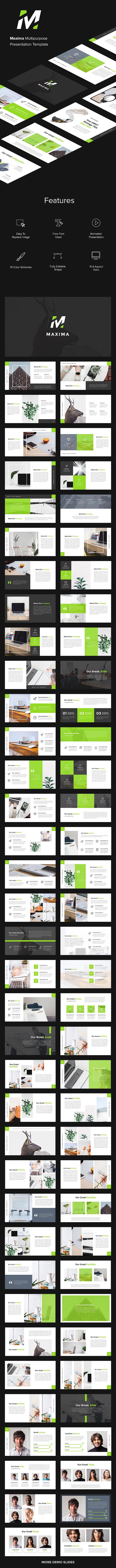 Maxima Multipurpose Keynote - Business Keynote Templates