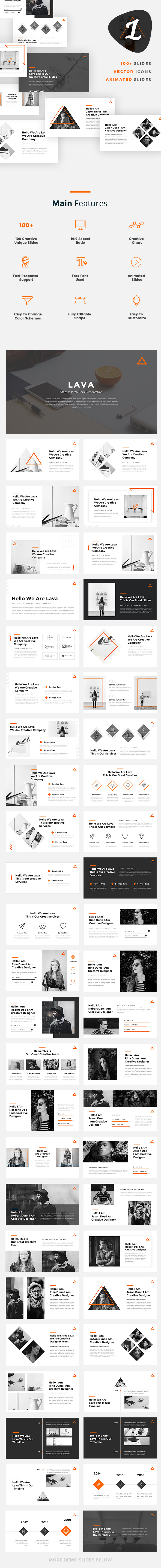 Lava - Creative Google Slides Template - Google Slides Presentation Templates