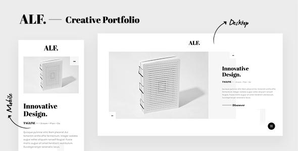 ALF. - Creative Design Portfolio Template - Portfolio Creative
