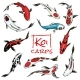 Set of Koi Carps Japanese Fish - GraphicRiver Item for Sale