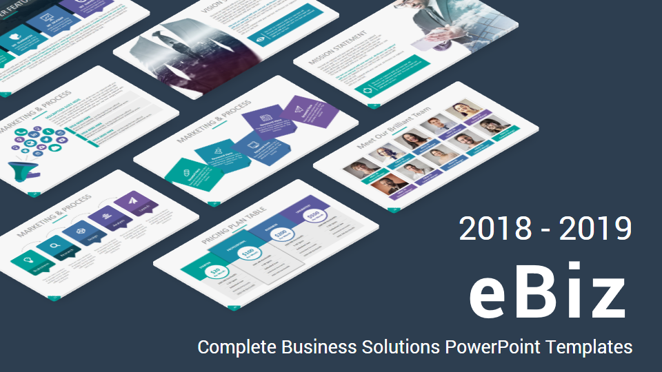 Ebiz Complete Business Solutions Powerpoint Template Updated By