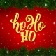 Ho-Ho-Ho Text on Card for Christmas Holiday - GraphicRiver Item for Sale
