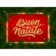 Merry Christmas Card Design with Italian Text - GraphicRiver Item for Sale