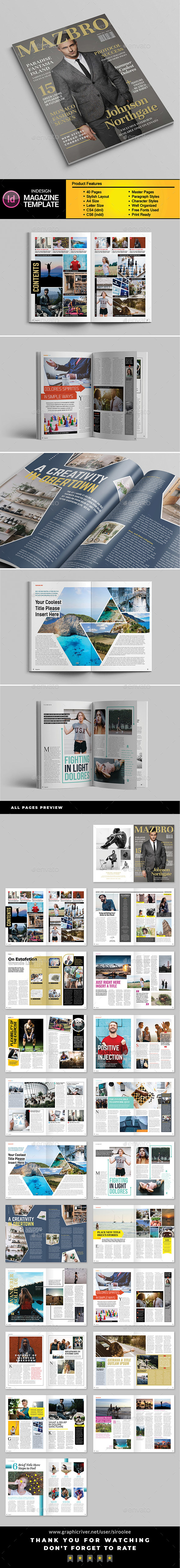 A4 Letter Magazine Vol.03 - Magazines Print Templates