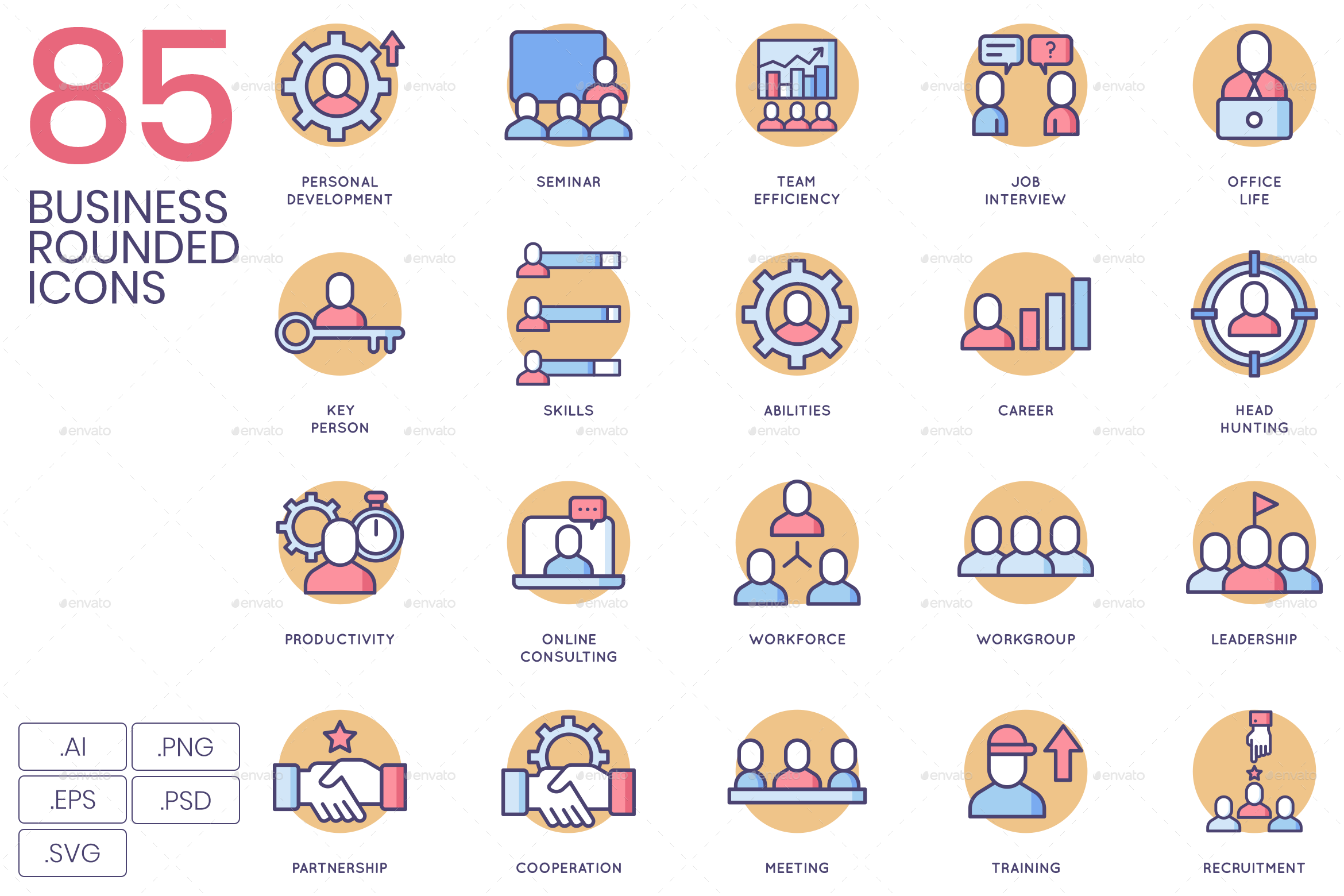 Business Icons - Rounded