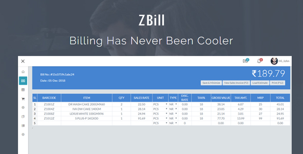 ZBill Retail & Wholesale Billing Software