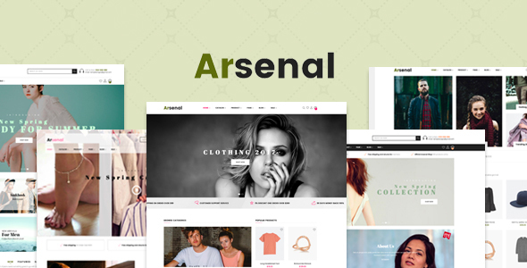 Arsenal Fashion Responsive PrestaShop 1.7.6 Theme