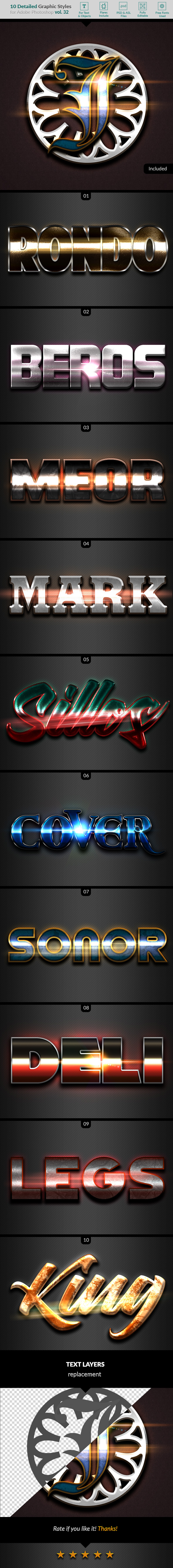 10 Text Effects Vol. 32