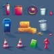 Vector Illustration of Items - GraphicRiver Item for Sale