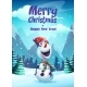 Vector Illustration the Cartoon Snowman Greeting - GraphicRiver Item for Sale