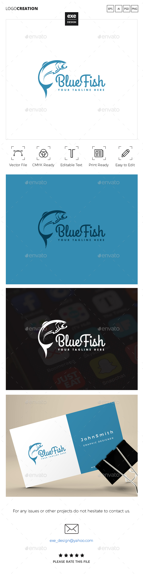 Fish Logo - Animals Logo Templates