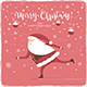 Christmas Balls and Santa is Skating on Red Background - GraphicRiver Item for Sale