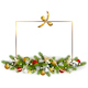 Vector Christmas Fir Decoration with Golden Bow - GraphicRiver Item for Sale