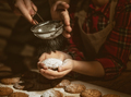 Hands of mother and daughter preparing biscuits - PhotoDune Item for Sale