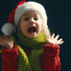 Little kid amazed at Christmas. - PhotoDune Item for Sale